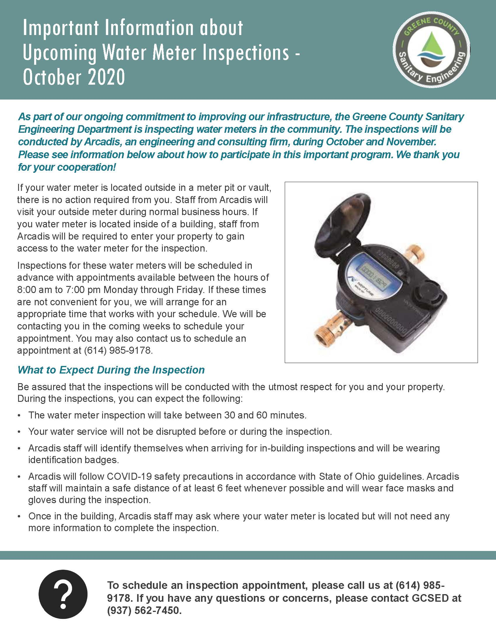 Inspection Notification Flyer