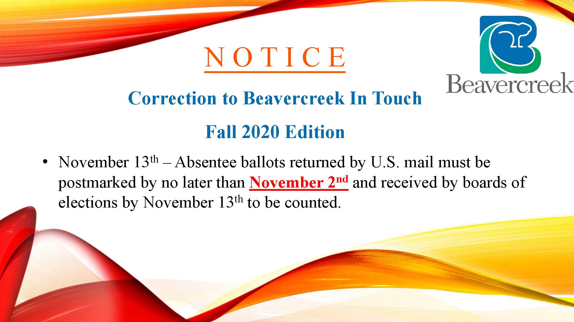 In Touch Correction 08.20.2020